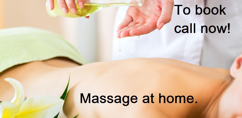 Massage at home woman feeling great